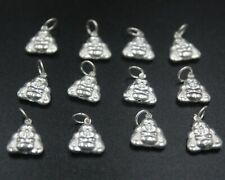 10pcs New 925 Sterling Silver Pendant Bless Buddha Charm for DIY Jewelry 14mmL