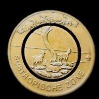 5 Euro Münze mit Polymerring-J-Subtropische Zone 2018 24 Karat vergoldet