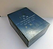 More details for vintage wwii air ministry wooden distributor 5d / 663  box raf aircraft  - blue
