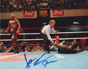 "JAMES ""LIGHTS OUT"" TONEY Signed Autograph Auto 8x10 Boxing Picture Photo W/COA"