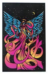 VINTAGE BLACKLIGHT POSTER ANGEL 2244 Orion Distribution Heaven Orange/ Pink Rare