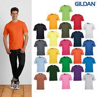 Gildan Premium Men's Cotton T-Shirt 4100-Round Neck Short Sleeve Casual Polo Tee