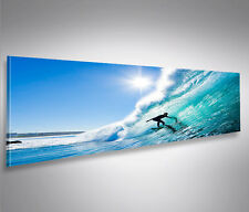 Bild auf Leinwand Big Wave Surfen Wellenreiten Panorama Leinwandbild Wandbild