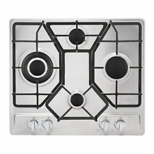 Empava 24 in. Gas Stove Cooktop 4 Italy Sabaf Sealed Burners NG/LPG Convertible