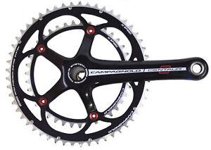 New Campagnolo Centaur Black Red Power-Torque 10 Speed  39/52 Crank Set 172.5