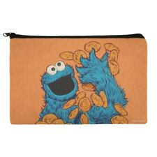 Sesame Street Vintage Cookie Monster Pencil Pen Organizer Zipper Pouch Case
