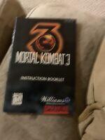 Ultimate Mortal Kombat 3 Super Nintendo SNES Instruction Manual Booklet ONLY