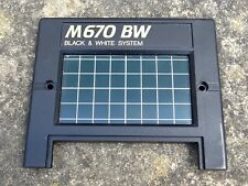 Durst M670 BW Enlarger Head Front Fascia #XB 61.108 - Clean and Checked