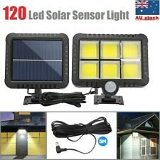 120 Led Solar Sensor Light Motion Detection Security Outdoor Garden Flood Lamp