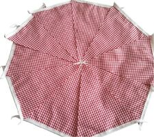 RED GINGHAM Fabric Bunting Bundle 20ft /6m Italian Kitchen Country Barn Dance
