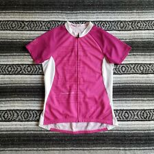 Specialized Sz M Short Sleeve Zip Front Bike Cycling Jersey Pink Breast Cancer