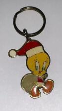 Vintage Warner Bros Looney Tunes Tweety Bird Keychain Ring 1993 Pre-owned Santa