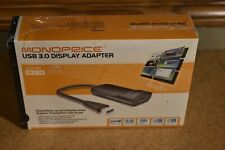 New Sealed Monoprice USB 3.0 to 4K Full HD FHD DisplayPort Adapter PID: 12630