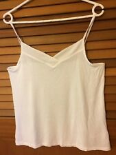 Size S Emerson white spaghetti strap camisole top with transparent edging