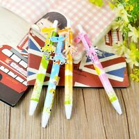 6Pcs Blue ink 0.5mm Cartoon Giraffe Ballpoint Pen Stationery School Supplies