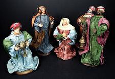 6 pc Christmas Nativity Baby Jesus Mary Joseph Wise Men Paper Ribbon Narrow
