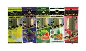 10X KING PALM WRAPS VARIETY PACK REAL LEAF ROLLS MINI SIZE 5 PACKS
