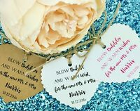 Bubble Favours Wedding Favour Gift Tags, Confetti, Personolised