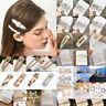 Popular Women Pearl Hair Clip Snap Barrette Stick Hairpin Hair Accessories