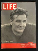 VINTAGE ~ LIFE Magazine Nov11,1940   Michigan's Tom Harmon / Hitler   M1811
