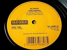 "BLONDIE - DREAMING / ATOMIC  7"" OLD GOLD VINYL"