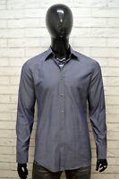 HUGO BOSS Camicia Uomo Taglia 40 M Maglia Camicetta Grigia Chemise Shirt Man