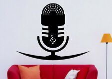 Music Wall Decal Vinyl Sticker Microphone Treble Clef Interior Art Decor (36mu)