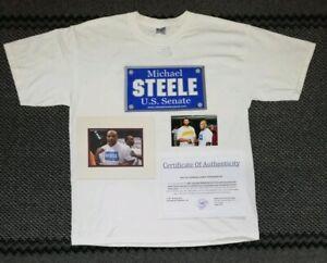 2006 Mike Tyson PERSONALLY WORN T-Shirt vs Corey Sanders Weigh In Photo + COA