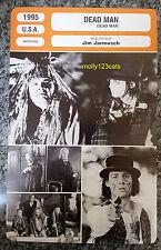 US Western Dead Man Johnny Depp Robert Mitchum John Hurt French Film Trade Card