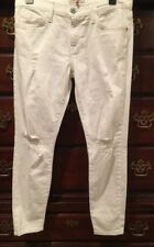 NWT Current Elliott The Stiletto White Salty Destroy size 27 MSRP $188.