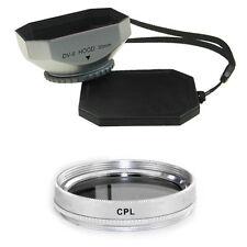 30mm Silver Mennon Lens Hood + CPL Filter for Sony DCR-SR62,DCR-SR62E,DCR-SR65