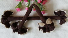 Handle Cover Crochet Handmade Louis LV SPEEDY 25 3035 ALMAbb GORGEOUS Dark Brown