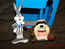 Taz & Bugs Bunny Ceramic Salt & Pepper Shakers Looney Tunes - Gibson 1998 *New*