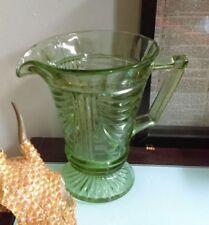 Vase Green Vintage Original Date-Lined Glass
