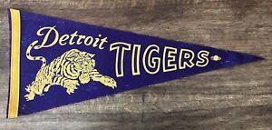 "1960's Detroit Tigers Pennant MLB Baseball Michigan Banner Vintage 12"" x 30"""