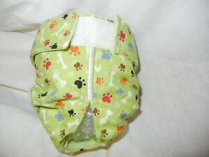 Female Dog Puppy Pet Diaper Washable Pants Sanitary Underwear PAWS BONES SMALL