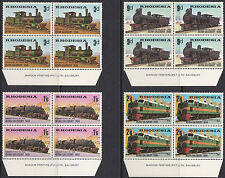 Rhodesia SG 431 - 434: 1969 Beira-Salisbury Railway, Imprint blocks of four