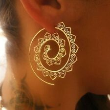 Boho Fashion Women Heart 18K Gold Filled Big Hoop Earrings Dangle Earring