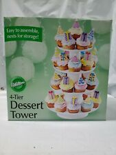 Wilton 4-Tier Stacked Cupcake and Dessert Tower 4 Tier New Box Damaged
