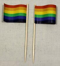 Party-Picker Regenbogen 50 St. Profiqualität Dekopicker Flagge Papierfähnchen