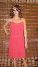 Felicity & Coco Strapless Pleated Chiffon Dress Coral Size large NWT