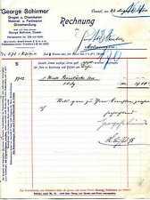 Rechnung George Schirmer Cassel Kassel Drogen Chemikalien Farbwaren 1915 KI21349