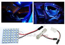 1x T10 & Festoon Universal 36 SMD Hyper Blue LED Panel Interior Dome Map Light