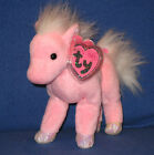TY FRILLY the PINKYS HORSE BEANIE BABY - MINT with MINT TAGS