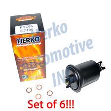 New Herko Set of Six Fuel Filter FSZ06 For Chevrolet Chrysler Daihatsu 1987-1992