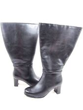 DAVID TATE WOMEN'S DAYTONA LEATHER BOOTS,BLACK, US SIZE 7.5 EXTRA WIDE