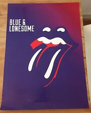 ROLLING STONES - BLUE & LONESOME PROMO POSTER (no filter tour ticket CD LP UK)