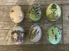 Hand Painted Decorative Eggs Set of 6