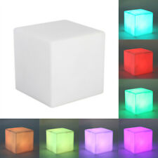 LED Color Changing Mood Cube Night Light Table Lamp Gadget Home Party Decoration