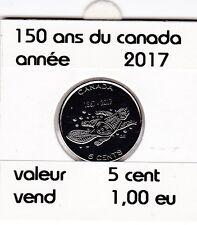 B2 ) pieces de 5 cent  (150 ans du canada ) 2017